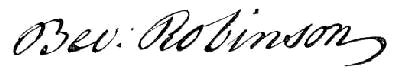 Signature of Beverley Robinson